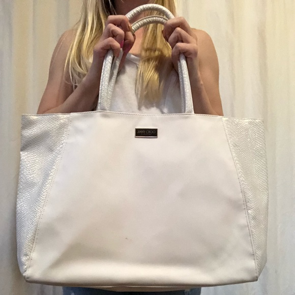 2c8b60b4a9 Jimmy Choo Bags   Perfume White Bag   Poshmark